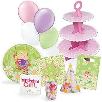 Amazoncom Fairy Garden Birthday Party Supplies Set Plates