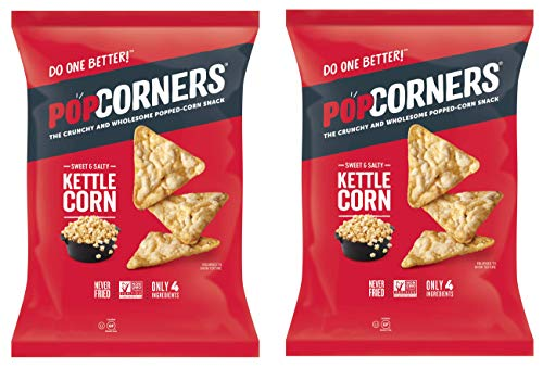 PopCorners PopCorn Snack Chips Pack of 2 5oz Bags (Sweet and Salty Kettle Corn PopCorners) ()