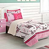 NEW PRETTY COLLECTION PARIS KIDS GIRLS CHIC BLANKET WITH SHERPA VERY SOFTY AND WARM SHEET SET AND WINDOWS PANELS 8 PCS TWIN SIZE