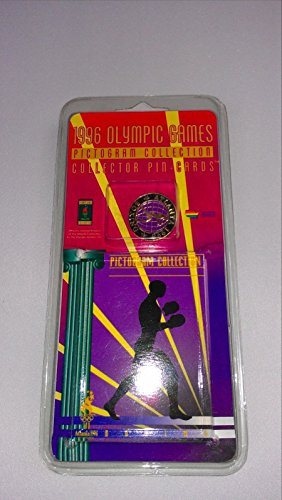 - OG 1996 Olympic Games Collector Pin Card Atlanta Basketball Boxing Tennis Swimming More (Boxing)