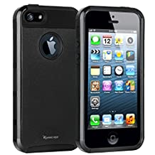 iPhone 5 Case,iPhone 5s Case,Korecase [Honeycomb] ARMOR Series Impact Resistant Rugge Durable Shockproof Heavy Duty Protection Dual Layer Case Cover for Apple iPhone 5 5s (Black)