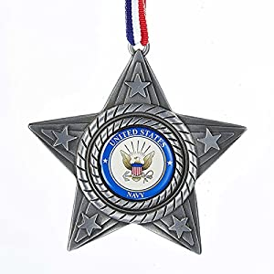 U.S. Navy Metal Star Ornament