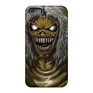 AlissaDubois iPhone 5c Anti-Scratch Hard Phone Cases Unique Design Vivid Iron Maiden Band Image [fZa18874kJUn]