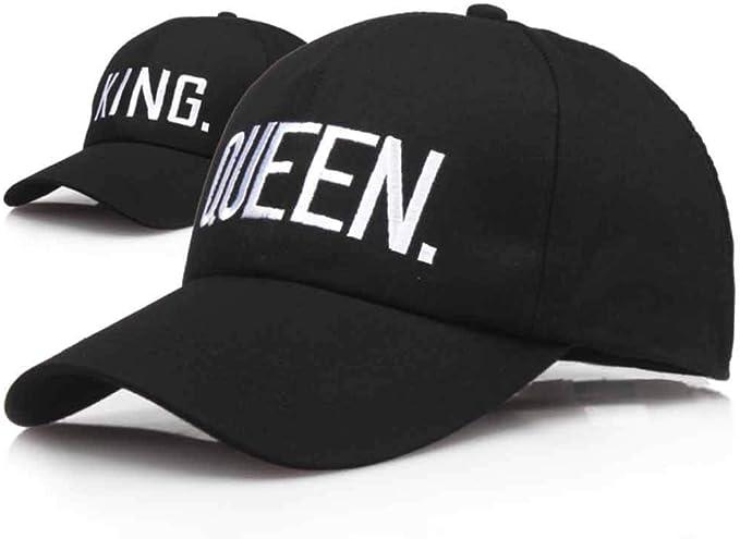 Reina Rey Sombreros para Parejas Gorras de Béisbol Ajustable ...