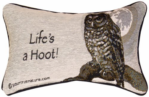 Manual The Lodge Collection Reversible Throw Pillow, 12.5 X 8.5-Inch, Advice from a Owl X Your True Nature [並行輸入品] B07R82KZ55