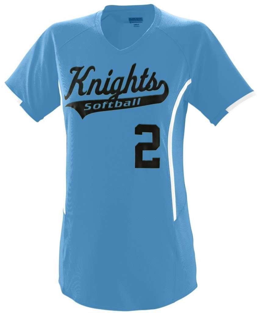 Augusta Sportswearレディース熱ジャージー B00GK5UKEAコロンビアブルー/ホワイト xx-large