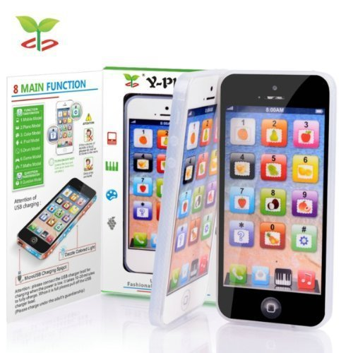 Y-Phone YPhone Toy Play Cell Phone Mobile Phone Cellphone with USB Recharable Cable for Baby Kids With USB Recharable