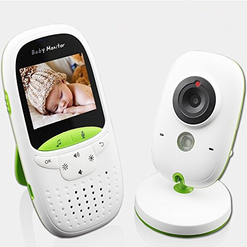 Battiphee Video Baby Monitor, Night Vision, Temperature Monitoring, 2.4G Wireless Two Way Talk Back,Multi-Languages Support, 900 Feet Range