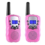 Toys for 3-12 Year Old Boys, Teen Girl Gifts, Selieve Walkie Talkies for Kids Teen Boy Gifts Birthday (Pink, 1 Pair)