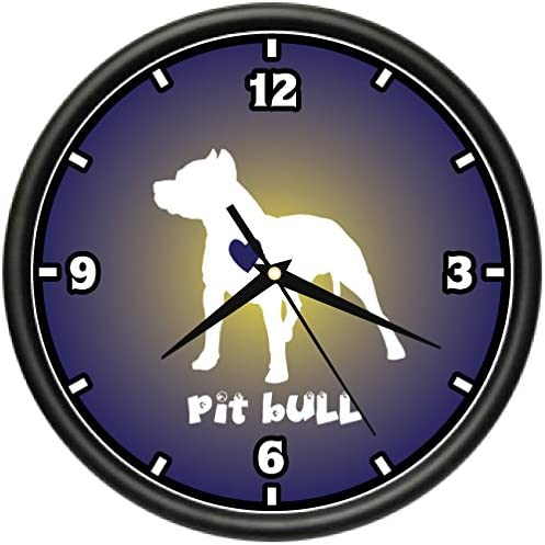 Love Pit Bulls Wall Clock Pitbulls Breeder Dog pet Lover Bulldog Terrier Gift