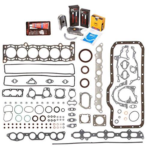 Evergreen Engine Rering Kit FSBRR2023T\0\0\0 Fits 87-92 Toyota Supra Turbo 7MGTE Full Gasket Set, Standard Size Main Rod Bearings, Standard Size Piston Rings