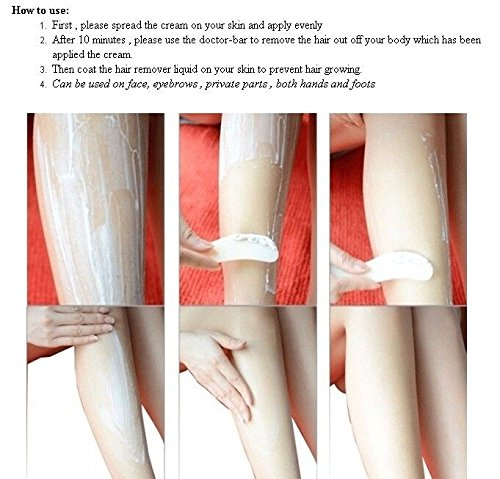 Amazon.com: STREP hair removal cream set for leg pubic hair Kit armpit hair remove quickly by U Happy: Everything Else