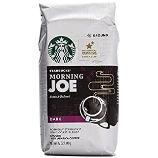 Starbucks Gold Coast Morning Joe Dark Ground Coffee, 12 Ounce (Pack of 6)