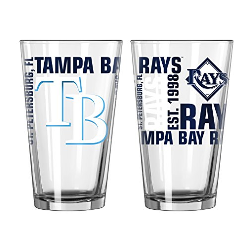 (Boelter Tampa Bay Rays Spirit Pint Glass (2 Pack) )