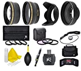 58mm Camera Accessory Kit (Wide angle, Telephoto, Lens Hood, Bag, Filters, Macro Lens Kit + More) For Canon PowerShot SX540 SX530 SX520 SX60 SX50 SX40 HS SX30 SX20 SX10 IS