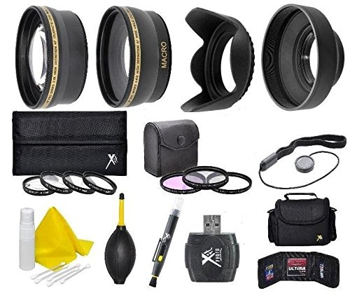 58mm Camera Accessory Kit (Wide Angle, Telephoto, Lens Hood, Bag, Filters, Macro Lens Kit + More) for Canon PowerShot SX540 SX530 SX520 SX70 SX60 SX50 SX40 HS SX30 SX20 SX10 is