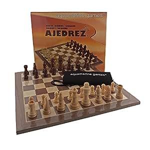 Aquamarine Games - Tablero y piezas en madera (Compudid CP103111)