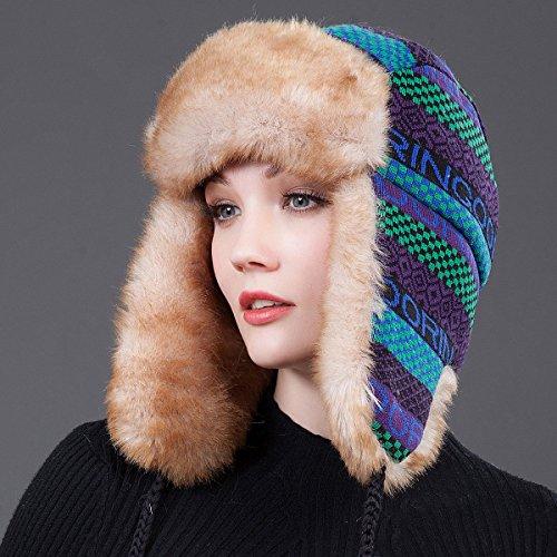 Misti Cappello B Codificazione Zhirong Hat Cotton Inverno Cap Outdoor B Colori Auricolare Mantenere Protezione Ms 59cm Ski Caldo colore 54 HHw8qr