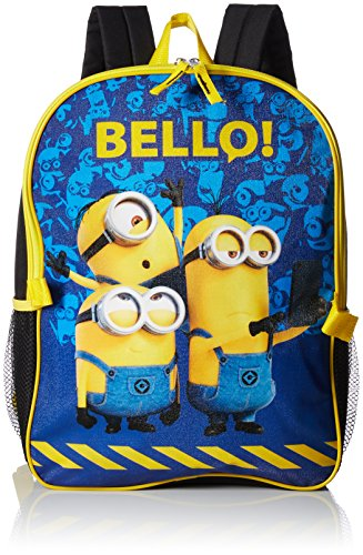 Despicable Me Big Boys 16'' Backpack with Detachable Lunch, Black, 16 Inches -