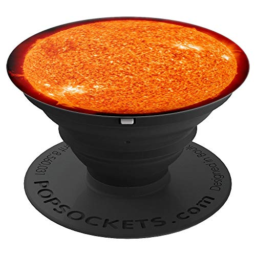 The Sun with Fireball Solar Flare - PopSockets Grip and Stand for Phones and Tablets ()