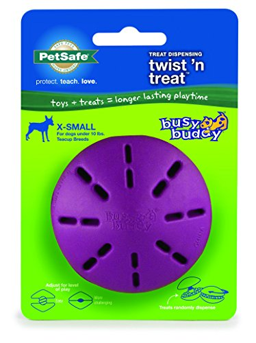 PetSafe Twist 'n Treat Dog Toy, Use with Food or Treats - Treat Dispensing Chew Toy