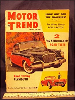 1956 56 Febuary MOTOR TRENDS Magazine (Features: 1956