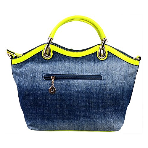 Denim Flower Women Clutch Handbag Rhinestone Ruiatoo Blue with Messenger Leisure Evening for Bag Portable Rose Y5xqSX1