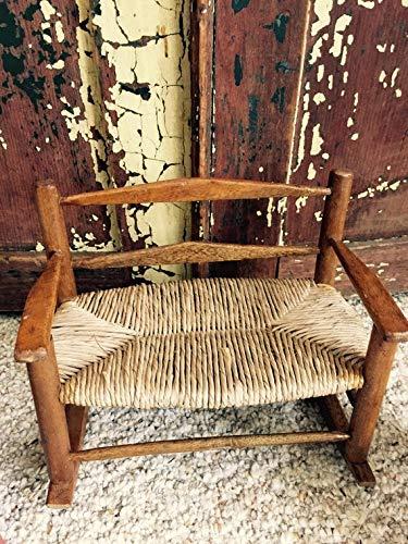 Rattan Vintage (Vintage// Rattan// Wooden// Doll// Chairs// Settee Rocker// Adorable Set of 3// Wonderful Find!)