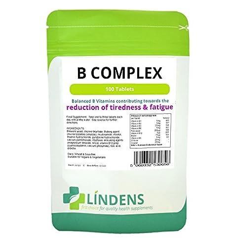 La vitamina del complejo B B1, B2, B3, B5, B6, B9, B12, ácido fólico 3-PACQUETE 300 Tabletas: Amazon.es: Salud y cuidado personal