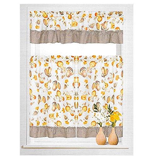 Mushroom ruched curtains decor