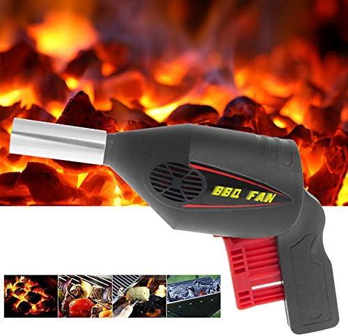 DYG Portable Cuisine de Plein air Barbecue Ventilateur Blower pour Barbecue Manuel d'incendie Soufflet Main pour Pression sur l'outil Poêles à Pique-Nique Camping
