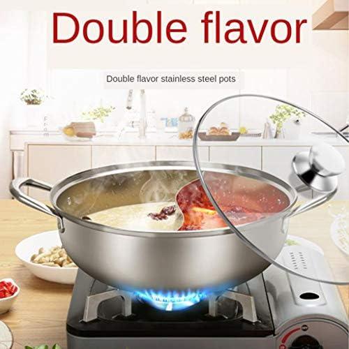 prasku Batterie de Cuisine Compatible avec Les Casseroles de Cuisson à Double Site en Acier Inoxydable de 28 Cm
