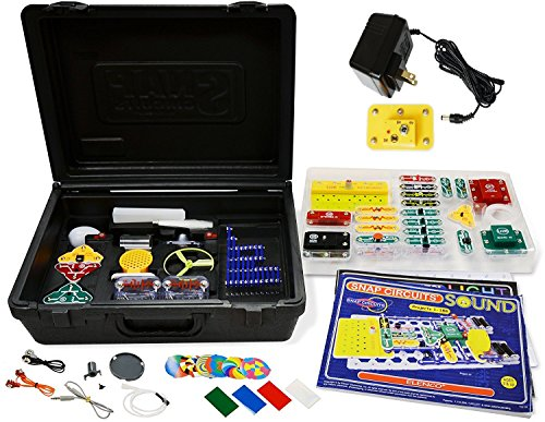 Elenco Electronics Snap Circuits R Deluxe Sound & Light Combo with Battery Eliminator No Soldering. No Tools. No Batteries. Its a Snap.