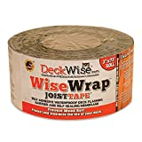 DeckWise WiseWrap JoistTape 3'' x 75' Self-Adhesive Deck Joist Flashing Tape for Hardwood, Thermal Wood, PVC, Pressure Treated, and Composite Decking (12 Rolls)