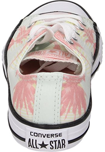 Converse Unisex-Kinder CTAS OX Sneaker Mehrfarbig (Barely Green/Pale Coral/White)