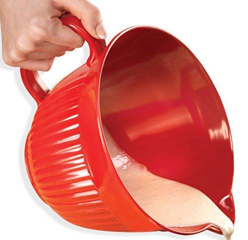 2 Qt. Red/Orange Melamine Batter Bowl (2 Quart Batter Bowl)