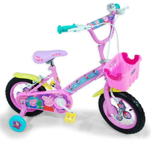 """Peppa Pig – Bicicleta con ruedas de 12"""" (Saica Toys 9124)"""