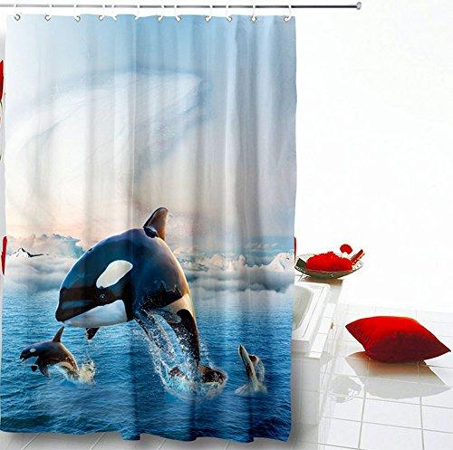 La Color Cortina Ducha Meili De Cuenta Del Impresión Baño Partición Tianhai Digital xqqpt4