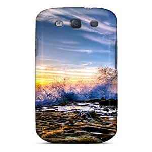 Perfect Fit KOgcxSH5503EMbmU Crashing Waves Case For Galaxy - S3