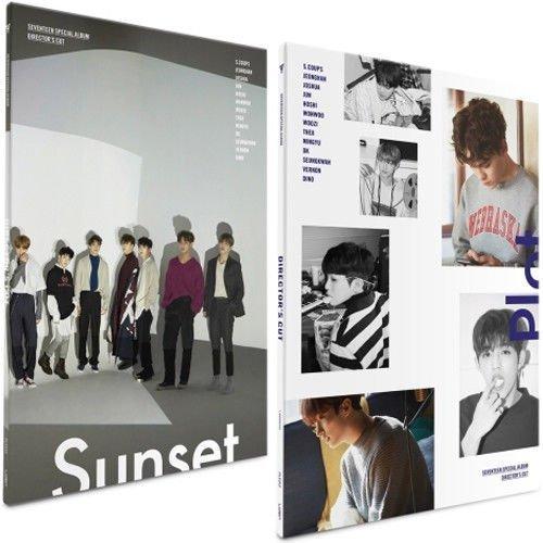 SEVENTEEN [DIRECTOR'S CUT] Special Album Random Ver CD+POSTER+P.Book+6p Card+Pre-Order Item+Tracking Number