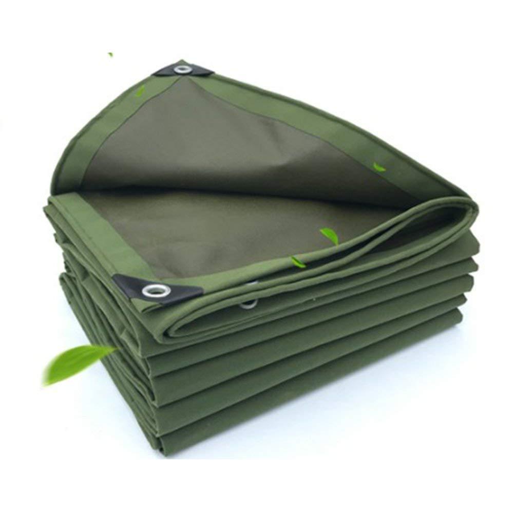 JINSH Außenzelt Plane wasserdicht Sonnencreme Zelt Tuch LKW Schuppen Tuch verschleißfesten Anti-Korrosions-Frostschutz Leinwand, grün (Farbe   Grün, Größe   3X5M)