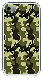 IMARTCASE iPhone 4S Case, Army Camo Case for Apple iPhone 4S/5 TPU - White