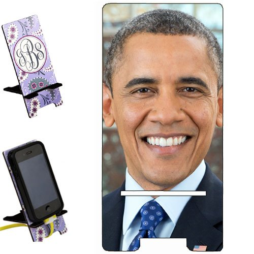 (Barack Obama Smartphone image STAND / Holder for cell phones Great Gift Idea)
