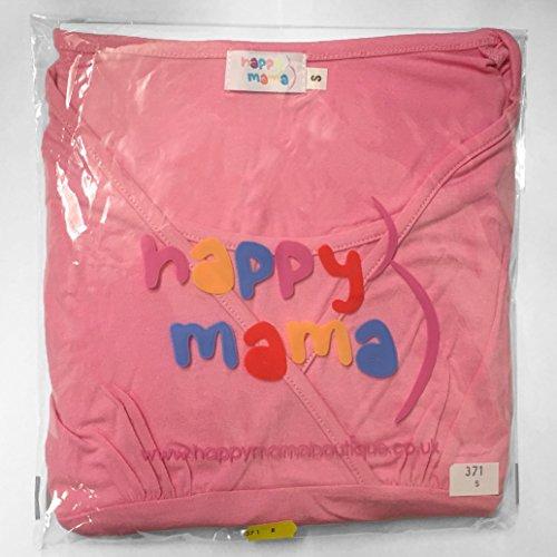 Happy Mama. Para Mujer Sudadera Capucha Panel de la Lactancia Top Premamá. 467p Negro & Blanco
