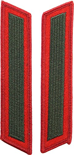 USMC Single Hashmark Green / Red - Mark Green Corp
