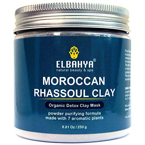- Organic Moroccan Rhassoul - Detoxifying Clay Face and Hair Mask. Cruelty-Free Organic Ghassoul. Deep Pore Cleanser and Conditioner (Rhassoul Powder)
