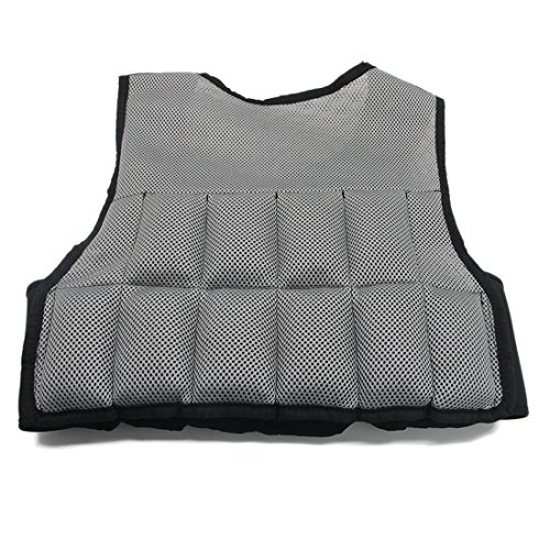 Weight Vest For Training Weighted Vest Weighted Training Vest Weighted Workout Vest (Gray, 10 lb) Adjustable Weighted Running Vest For Men or Women