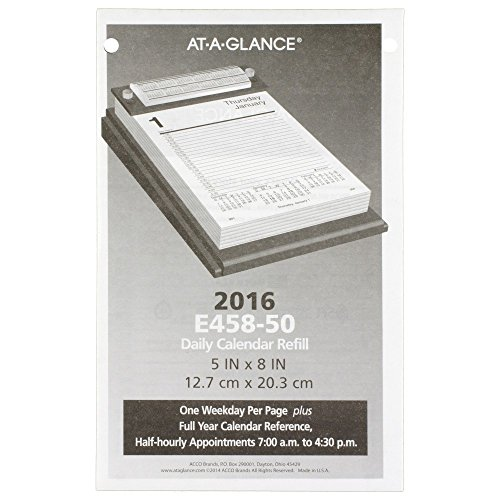 AT-A-GLANCE Daily Desk Calendar Refill 2016, 5 x 8 Inches (E458-50)