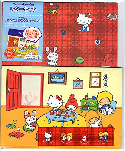 - Sanrio Character mix SR Window Open Letter Set Hello Kitty, My Melody, Little Twin Stars [Made in Japan]