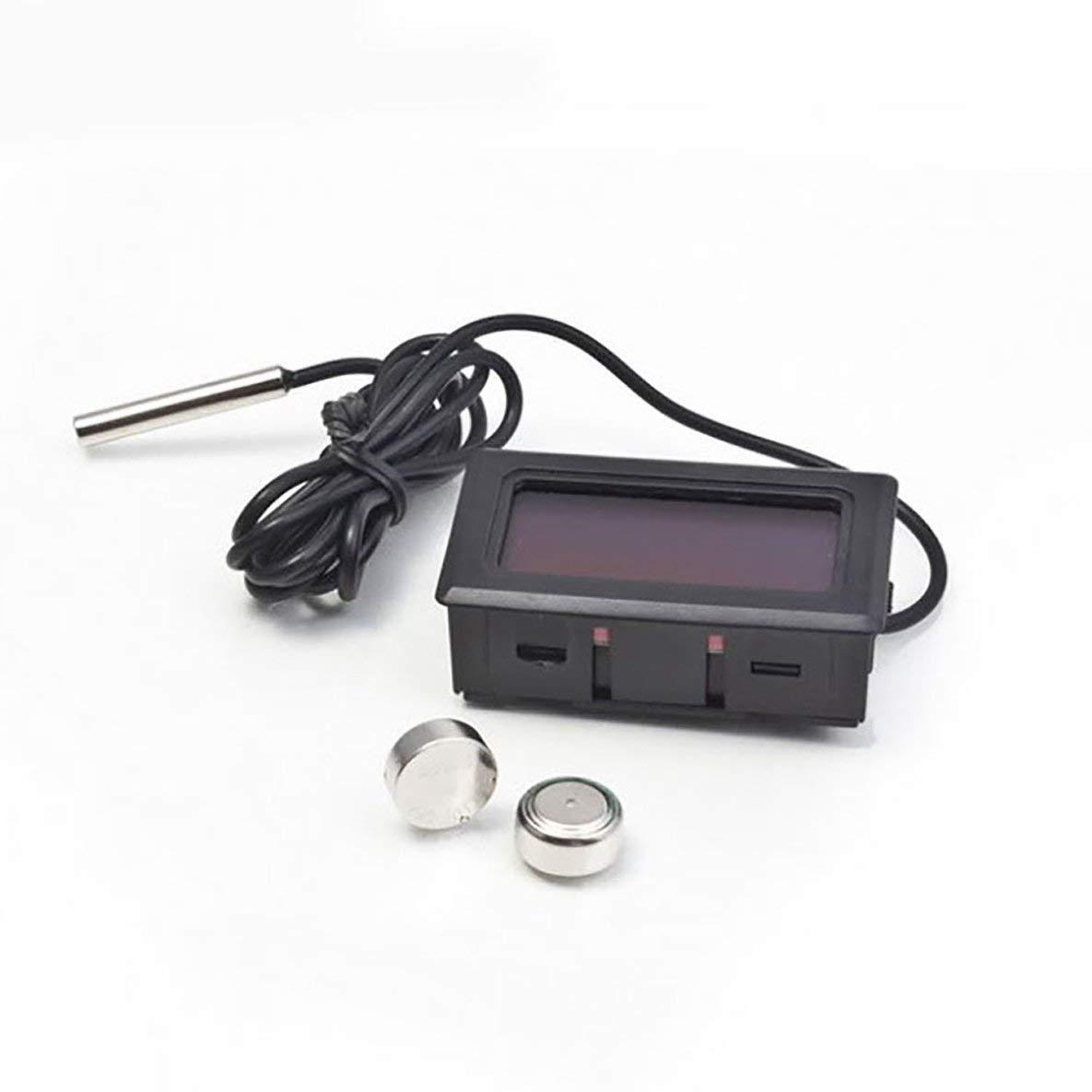 Noradtjcca Thermom/ètre De Voiture Ornements De Voiture Affichage LCD Horloge Num/érique Voiture-Styling Indicateur De Temp/érature Jauge pour Fish Tank R/éfrig/érateur